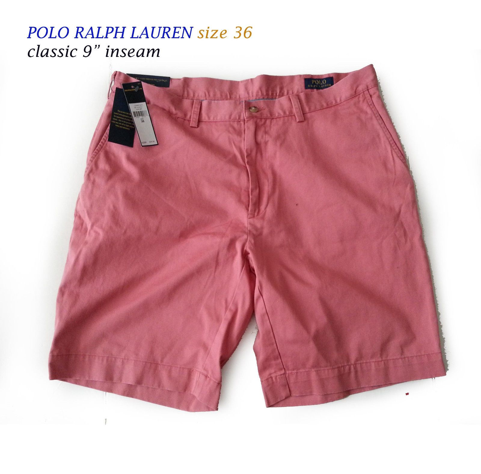 POLO Ralph Lauren Men Size 36 classic cotton shorts 9
