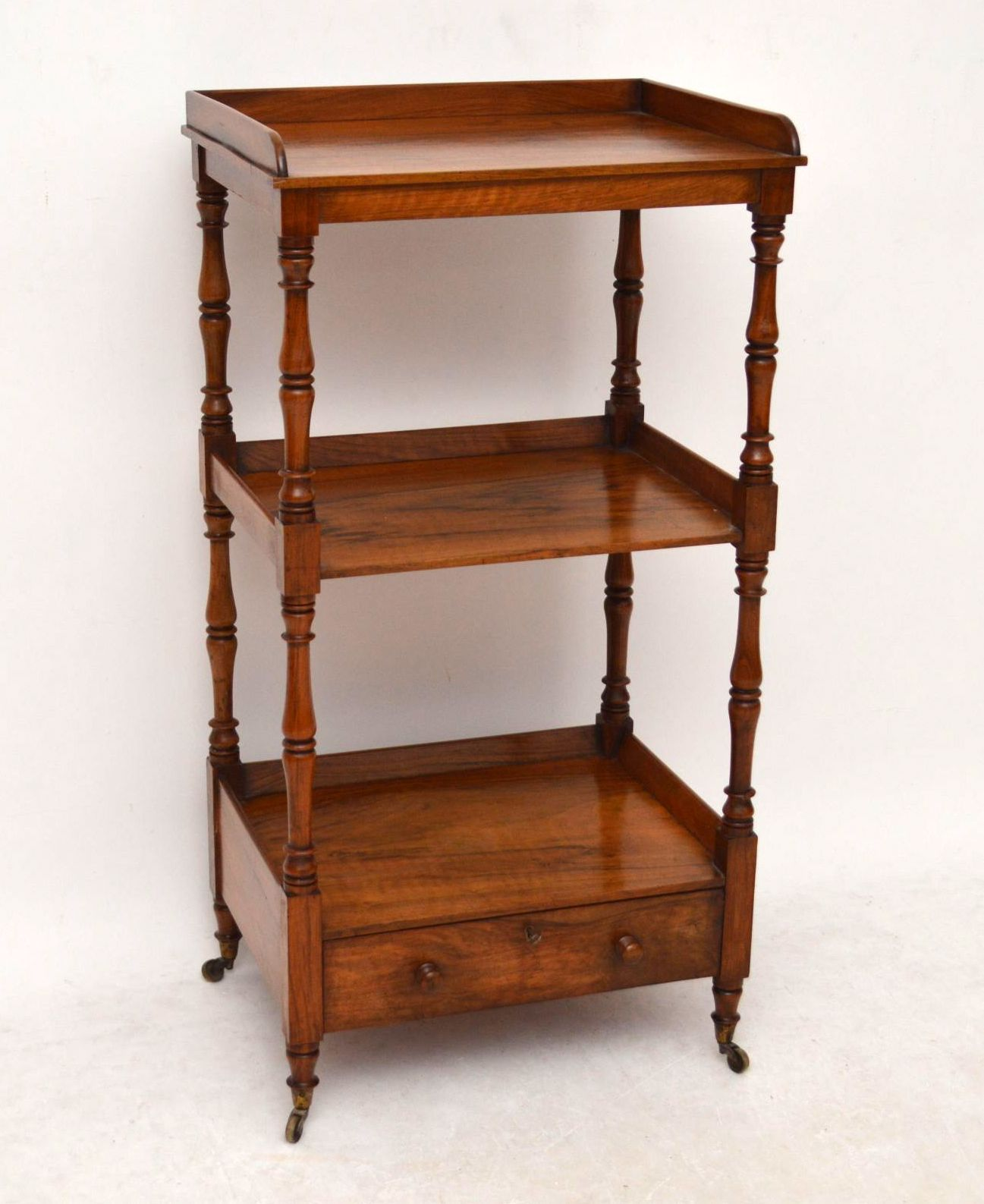 Antique Early Victorian Walnut Three Tier Buffet Stand | Church Street  Antiques   Antique Furniture