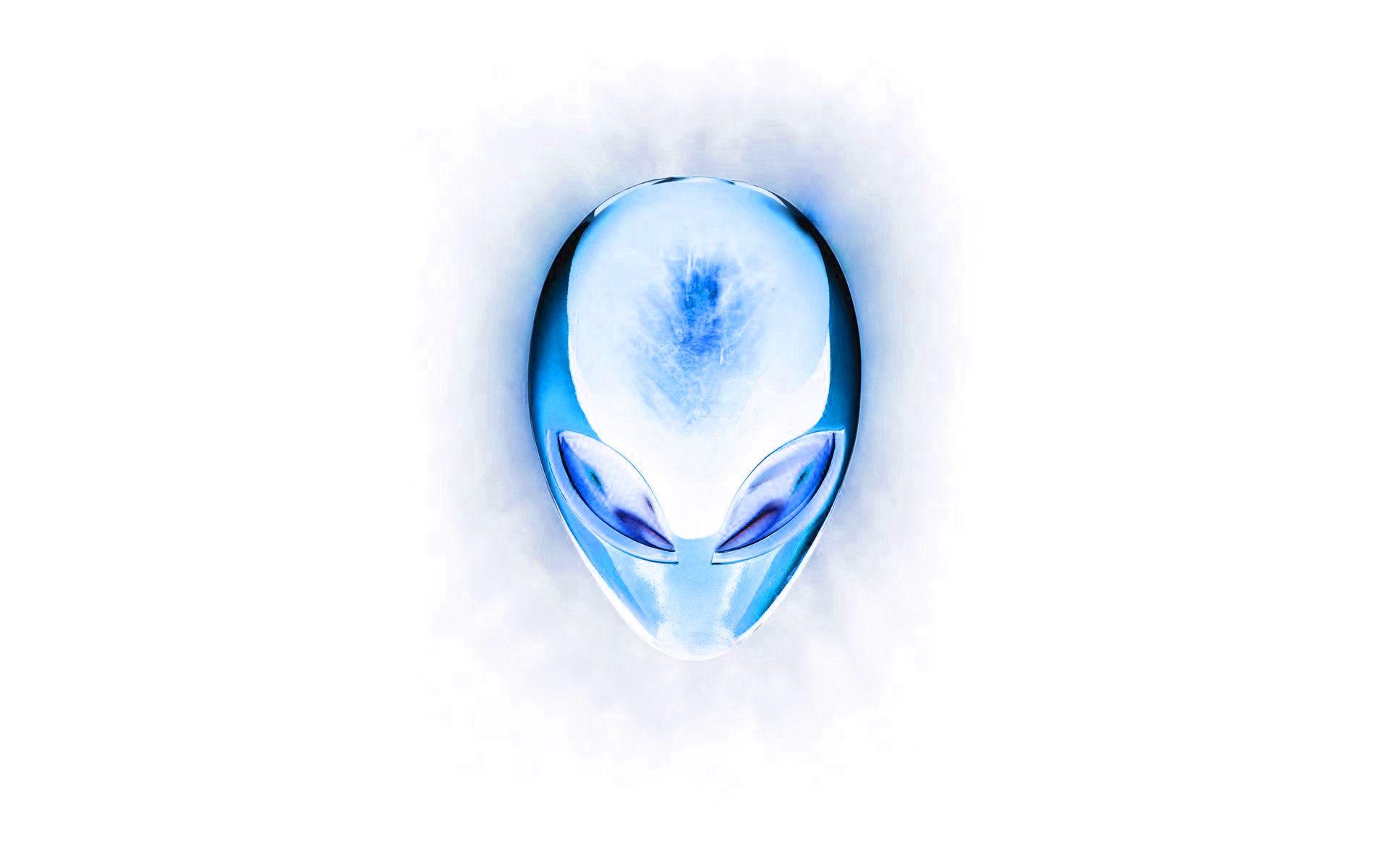 Alienware Desktop Background White And Blue Alien Head 19x10 Alienware Backgrounds Desktop Alienware Desktop