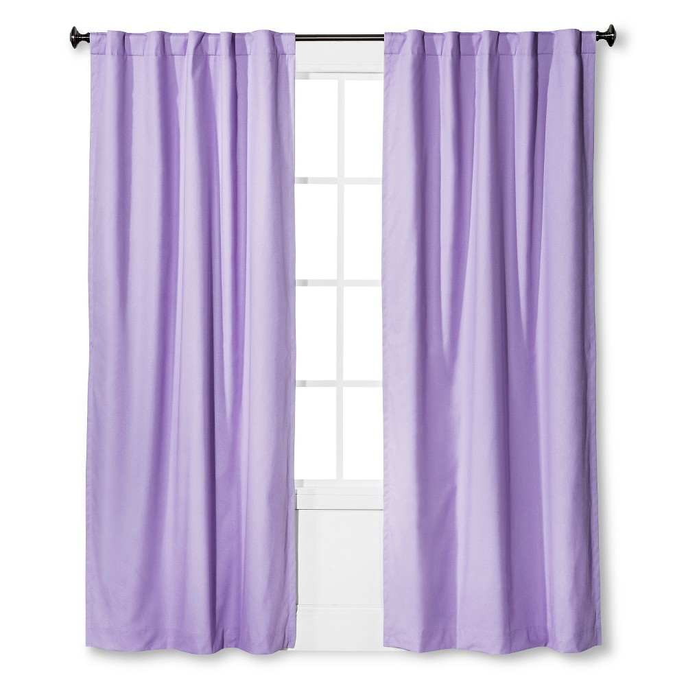 Twill Light Blocking Curtain Panel Lavender Purple 42x84