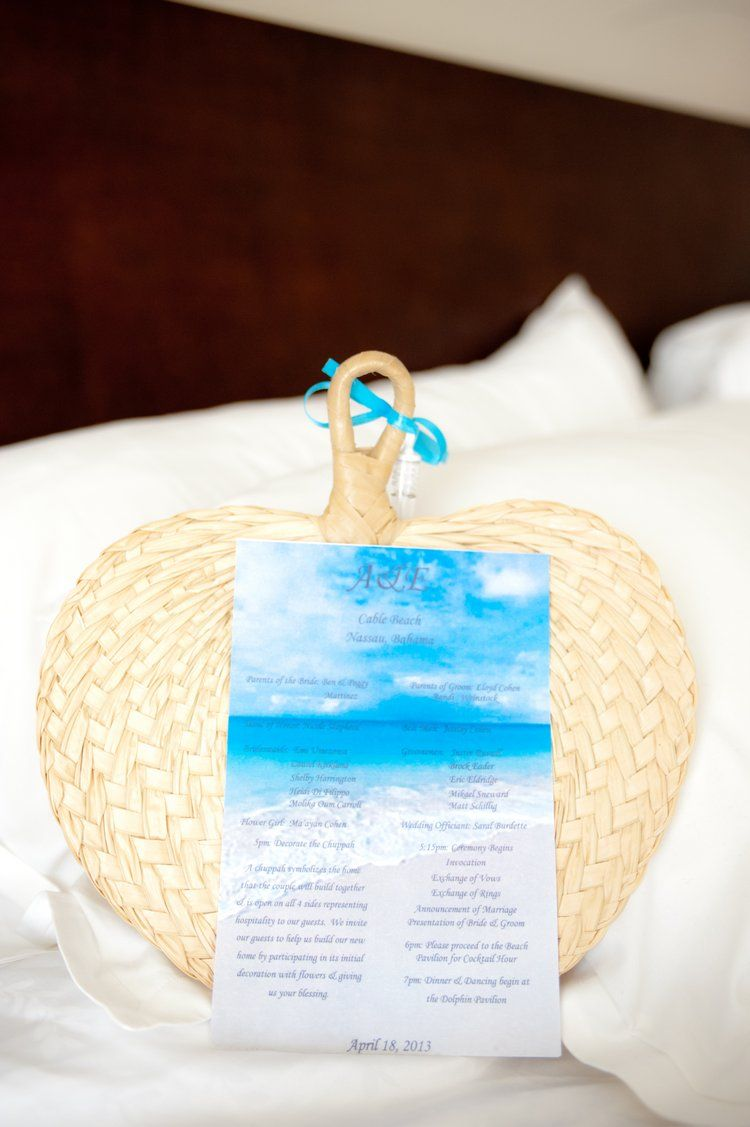 Love This Beach Wedding Fan Program For The Ceremony
