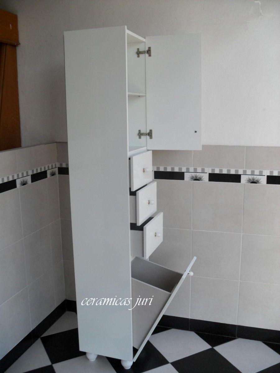 Tolva mueble de ba o laqueado blanco for Mueble bano blanco