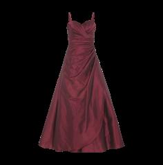 LUXUAR Abendkleid mit seitlicher Raffung in Fuchsia | FASHION ID Online Shop