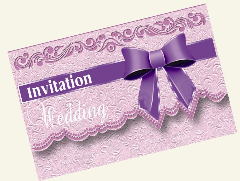 Wedding Invitation Card Paper: Custom-made Invitation Cards, Intricately Designed To Fit