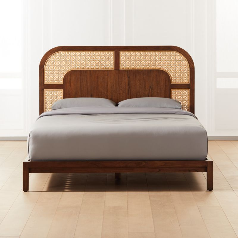 Nadi Cane Queen Bed Reviews Cb2 In 2020 Cane Bed Bed Frame And Headboard Bedroom Furniture