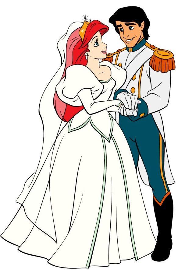 Disney Princess Fanart Ariel Eric The Little Mermaid Wedding Outfit Wedding Couple Cartoon Disney Wedding Disney Ariel