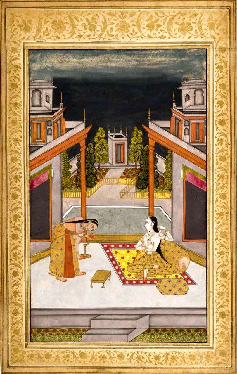 Shyam Kalyan Ragini of Shri Raga, Deccan, Hyderabad, circa 1760