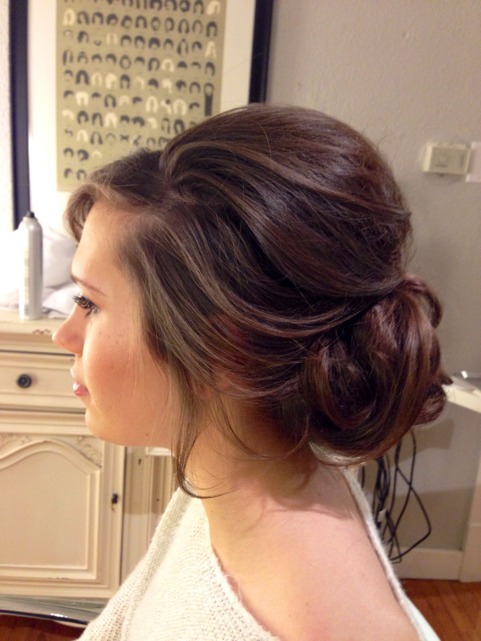 perfectly loose updo | bouffant hair updo | wedding