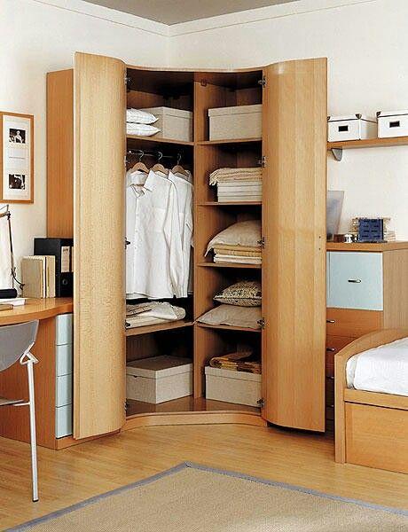 Organizararmario en esquina armarios de ensue o pinterest - Armarios empotrados en esquina ...