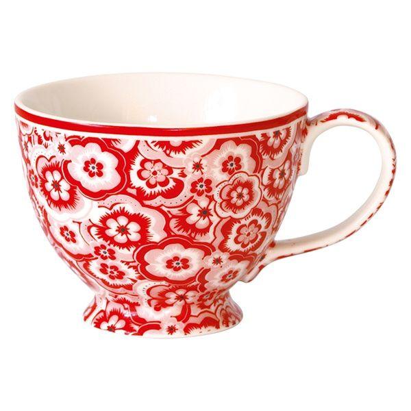 GreenGate Stoneware Teacup Selma Red D 11,5 cm | NEW! GreenGate Autumn/Winter 2014 | Originated-Shop