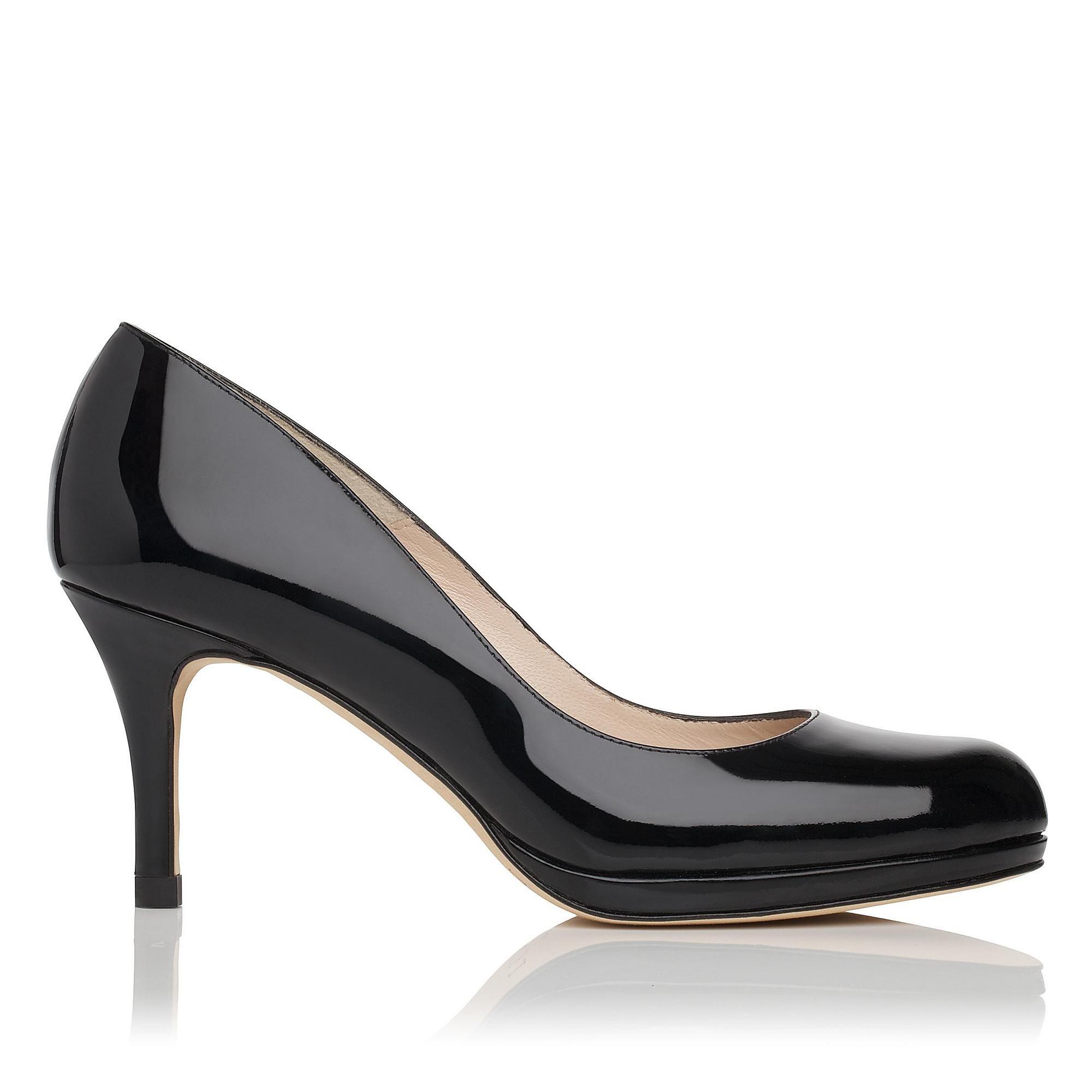 LK BENNETT | Sybila Patent Leather Platform Court Shoe in black | Patent  leather upper,
