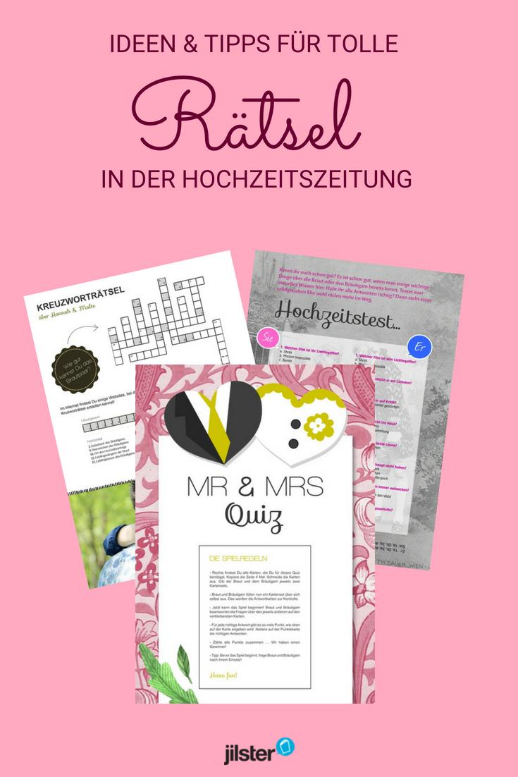 Kreativtipp Tolle Ratsel Fur Die Hochzeitszeitung Jilster Hochzeitszeitung Hochzeitszeitung Gestalten Hochzeitszeitung Ideen