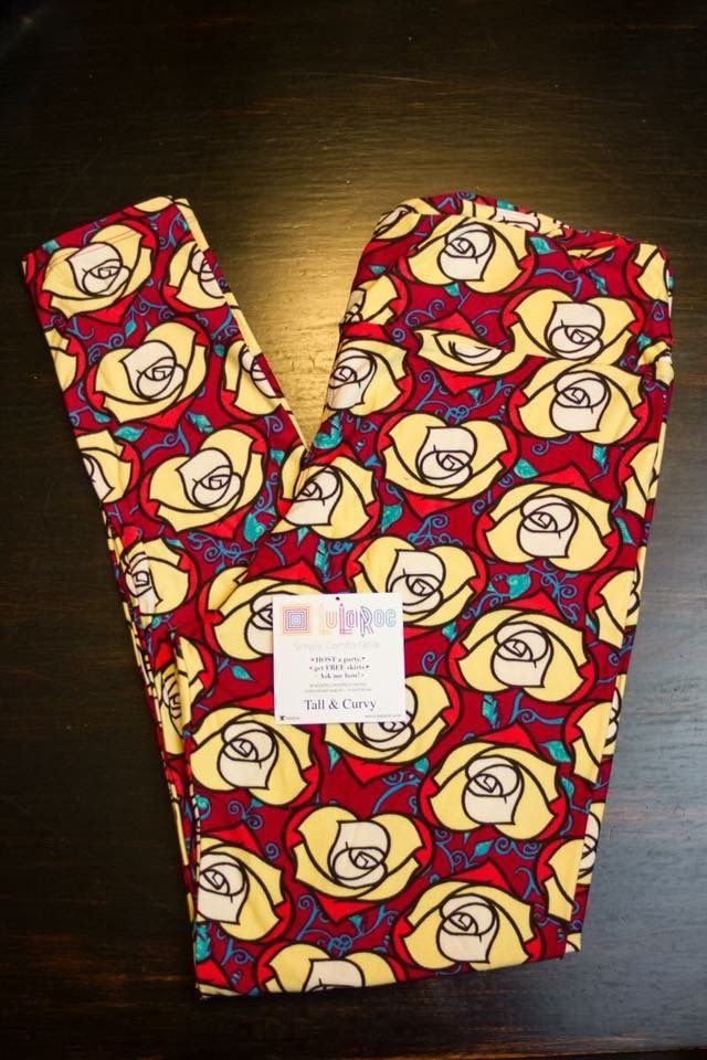 ee76ae9c9e2ce5 LuLaRoe Disney Roses.... I need these in OS. Beauty and the Beast ...