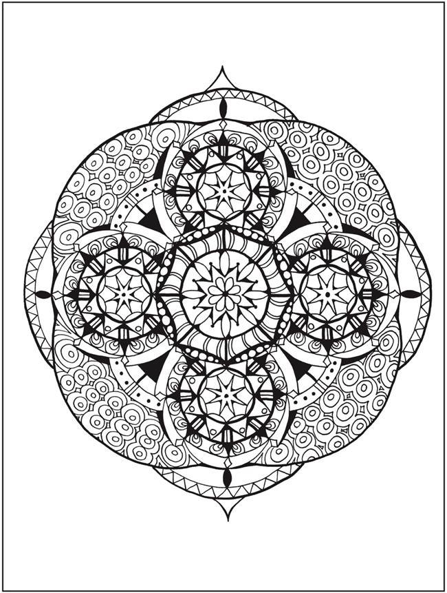 Zendala Coloring Book By: Lynne Medsker <> Dover Publications PAGE 5 ...