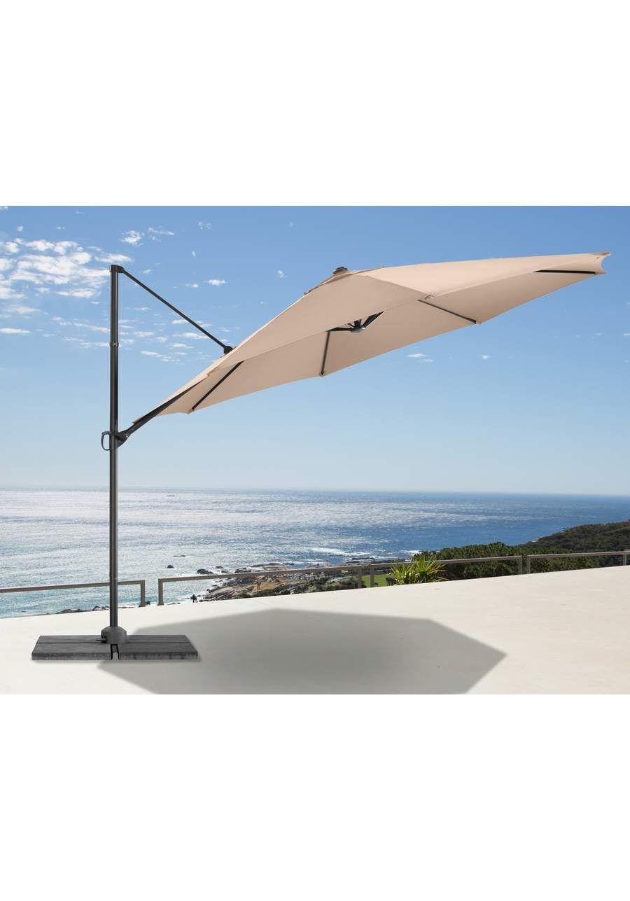 ampelschirm marbella 350 cm bespannung aus 100 polyester gestell aus aluminium und stahl. Black Bedroom Furniture Sets. Home Design Ideas