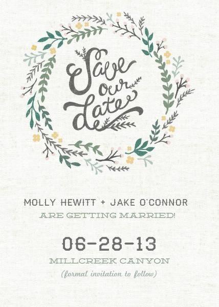 save our date wreath #zoggin #savethedate #wedding