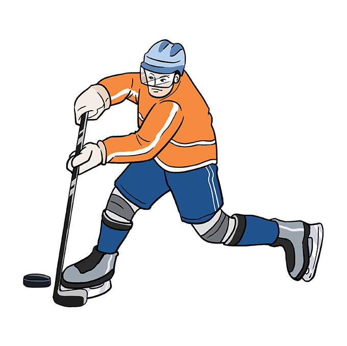 How To Draw A Hockey Player Really Easy Drawing Tutorial Easy Drawings Drawing Tutorial Easy Hockey Players