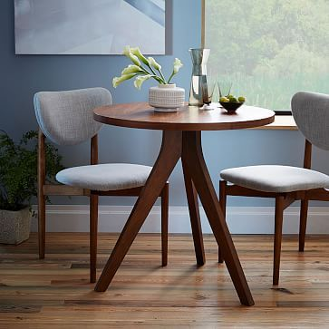 Tripod Dining Table Walnut Small Kitchen Tables Dining Room