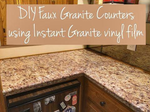 Diy Faux Granite Countertop Youtube Fake Granite Countertops