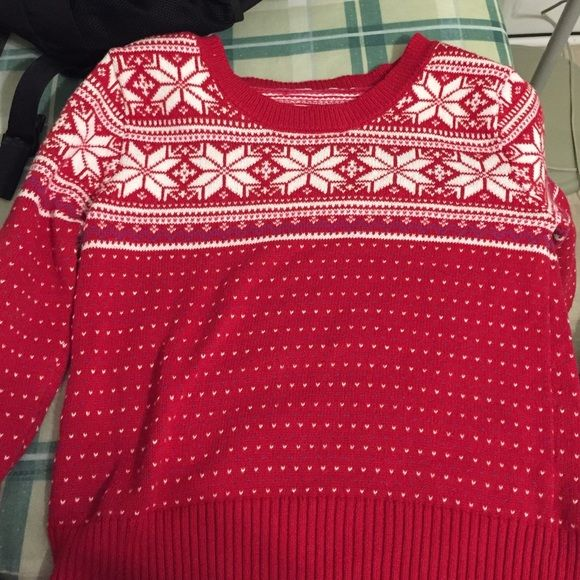 Red fair isle Christmas sweater | Fair isles, Aeropostale and ...