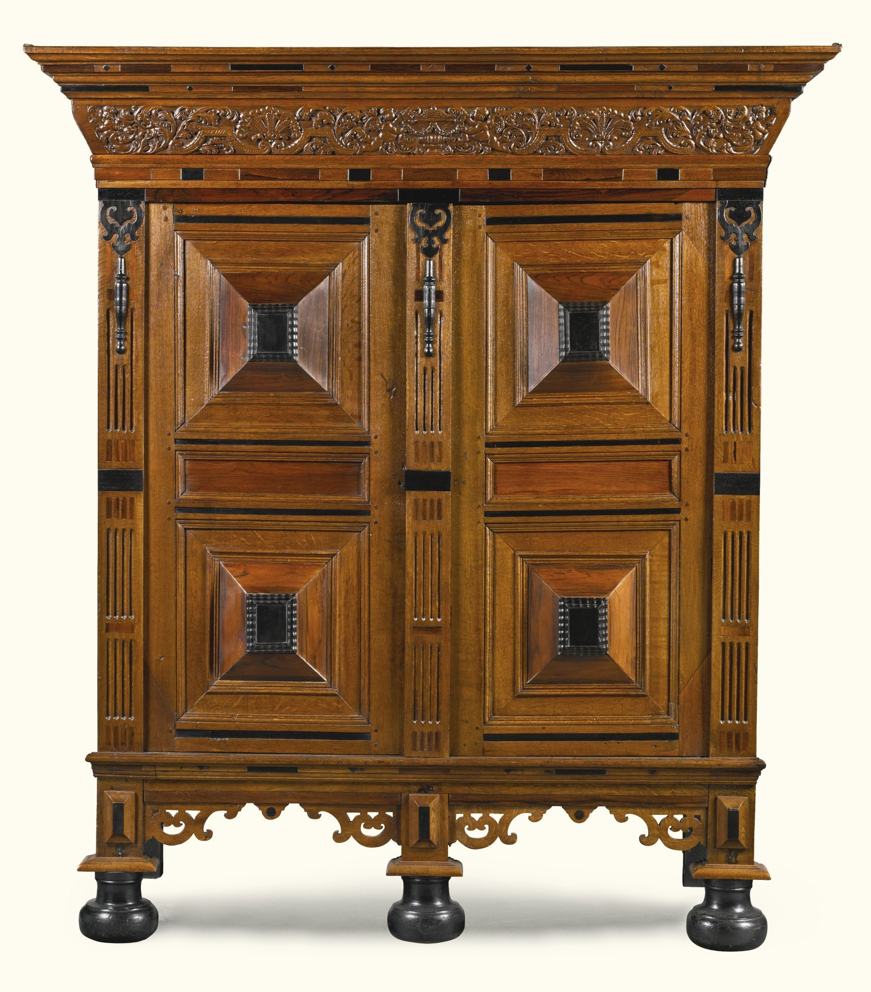 European Home Design Nyc: A Dutch Oak, Ebony And Rosewood 'Gelderse Kast' 17th