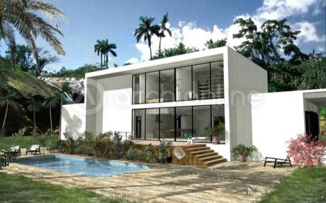 Villa sorobaca vue extérieure contemporary house modern maison contemporain architecture