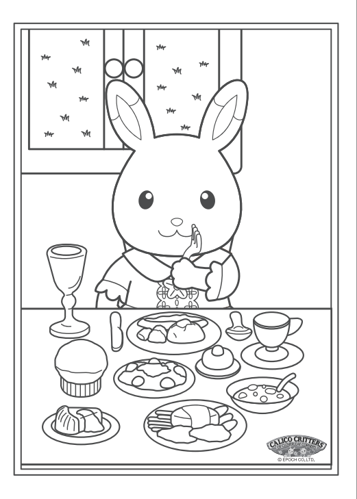 fun calico critter coloring activity on calicocritters