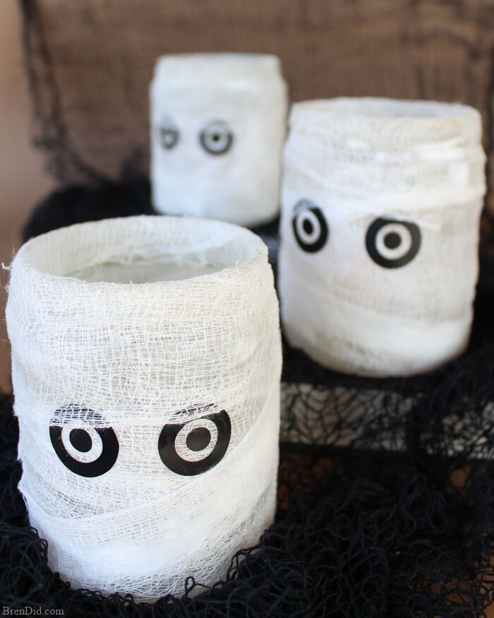 Mummy Luminary Easy Homemade Halloween Decoration Homemade - halloween decoration images
