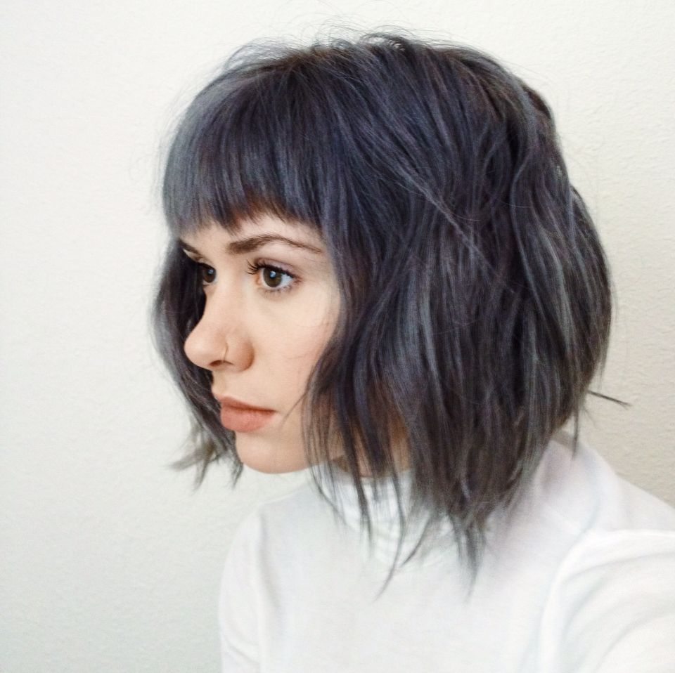 Steely Blue Breelaliberte Instagram Gray Hair Blue Hair Dark