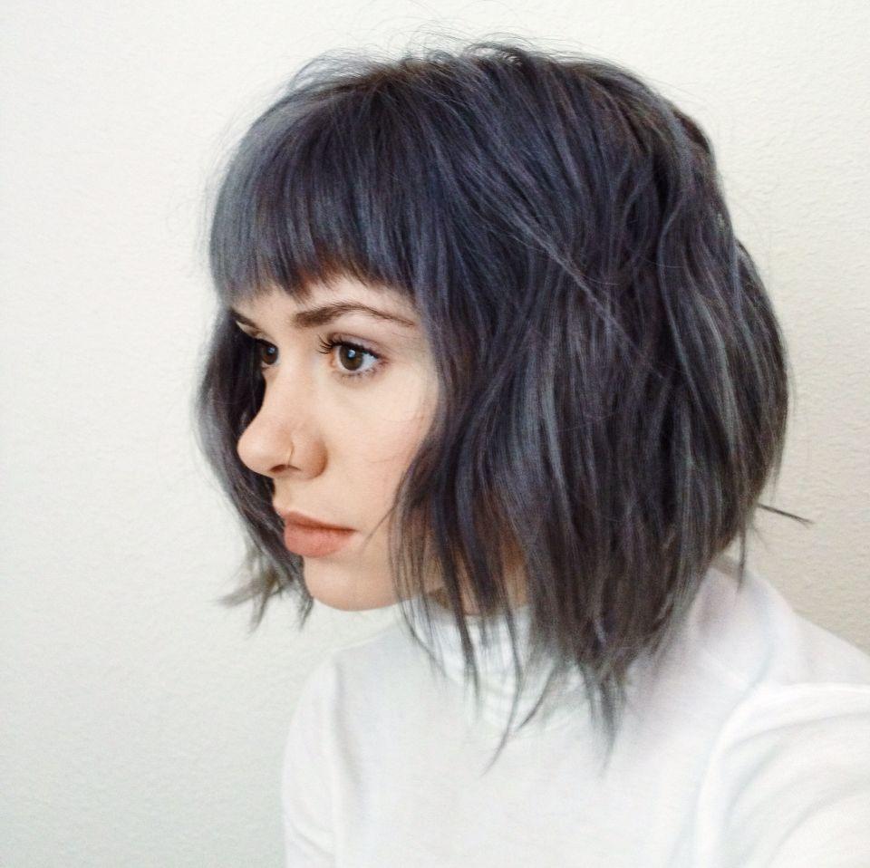 Steely blue breelaliberte instagram gray hair blue hair dark blue