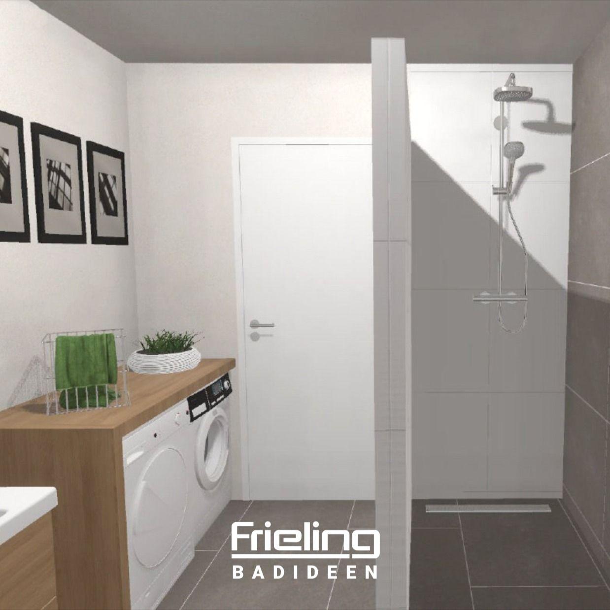 Perfekt versteckt  Trocker & Waschmaschine im Badezimmer