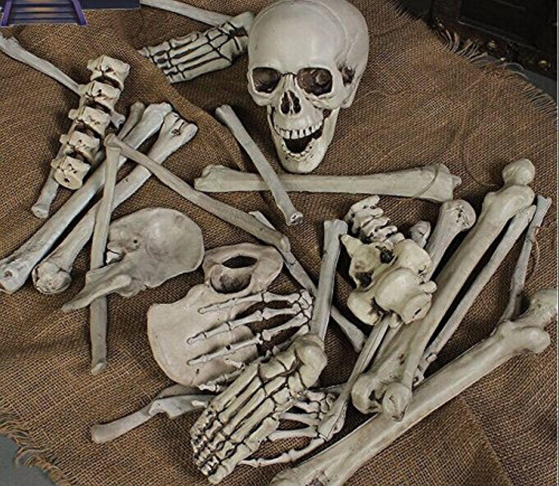 Bag Of Plastic Skeleton Bones Indoor Outdoor Halloween Decoration 30 Piece Halloween Haunted House Decorations Haunted House Decorations Halloween Party Props