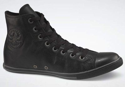 69.99 Converse Chuck Taylor All Star Hi Top Slim Black Leather 117634 men s  11.5  women s 3c4d3f58b