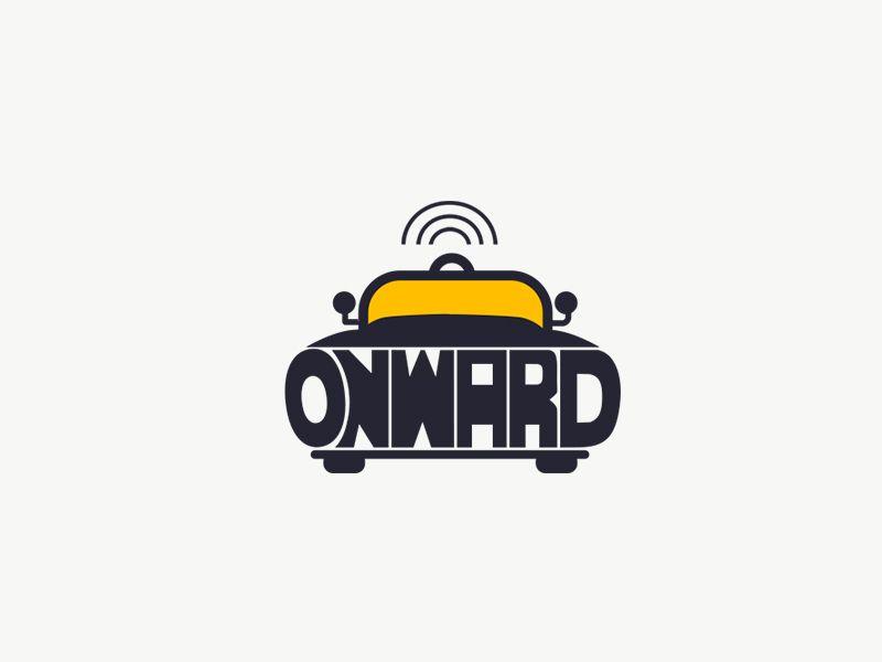 Daily Logo 5 50 Driverless Car Onward Business Logo Design Logos Pin Logo