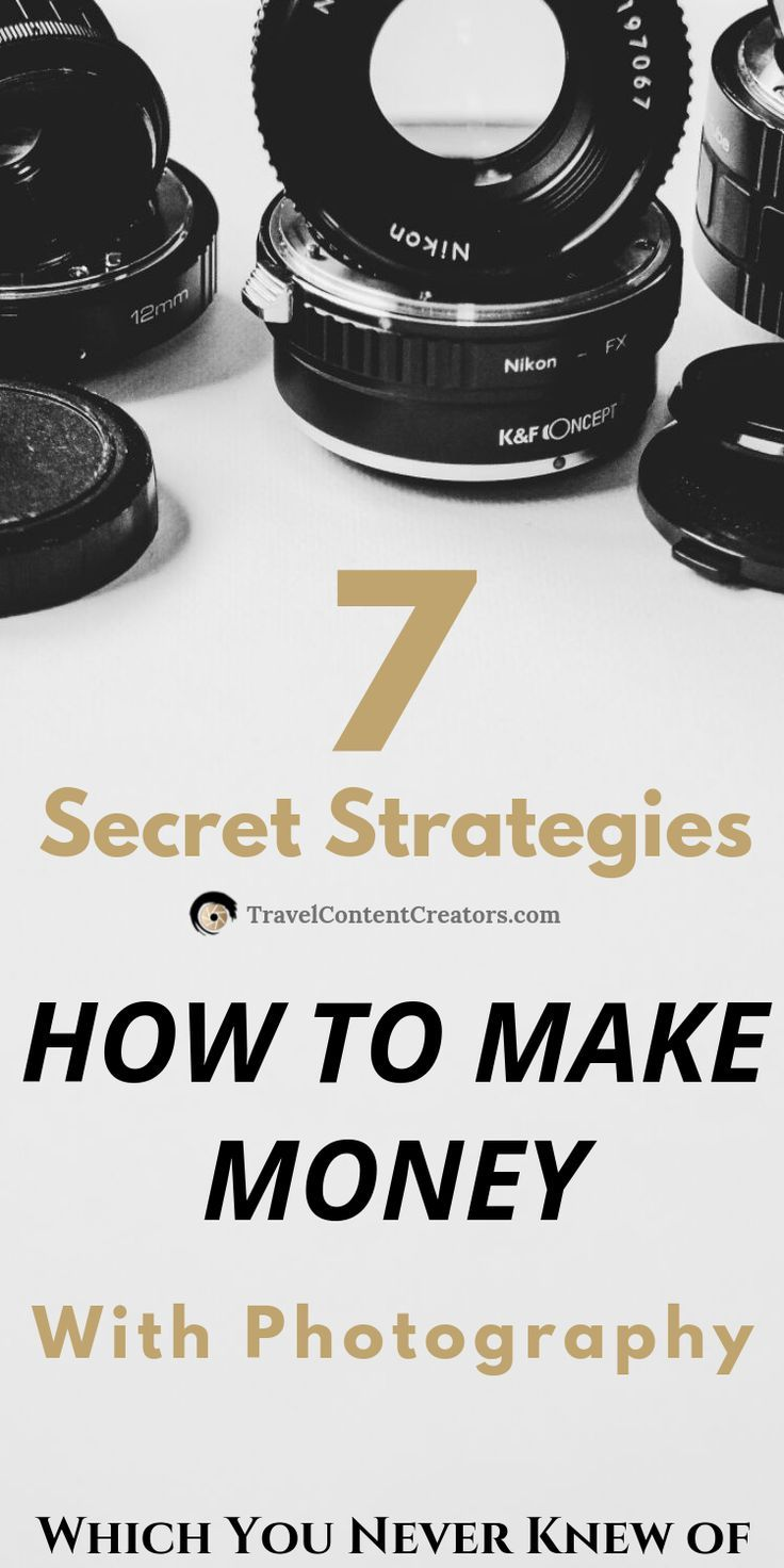 The Hidden Secrets Of Making Money With Photography
