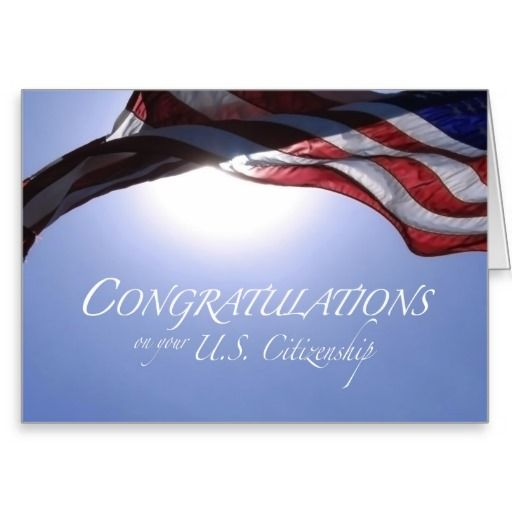 deals congratulations us citizenship us flag greeting card we