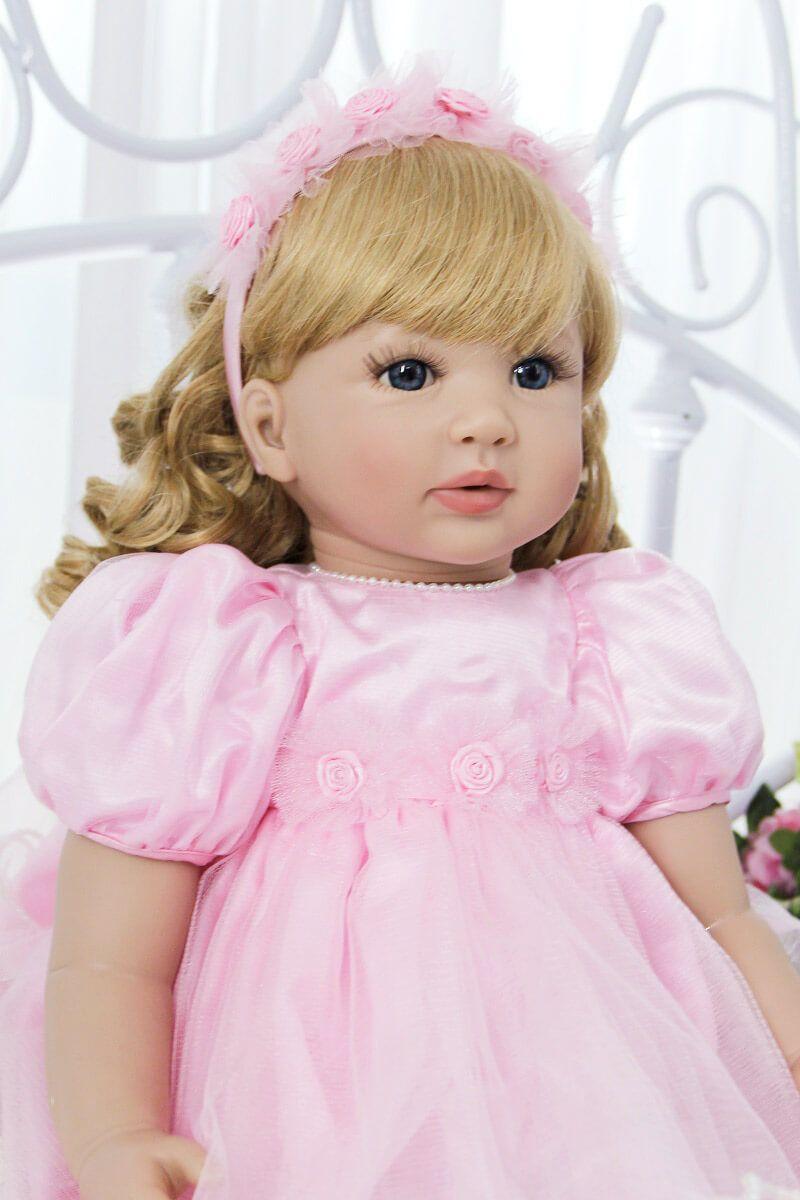 "24/"" Real Size Child Dolls Princess Girl Reborn Baby Dolls Soft Vinyl Reborn Doll"