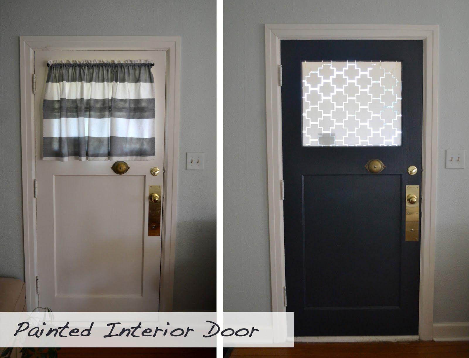 A Home In The Making Renovate Painted Interior Front Door Front Doors With Windows Front Door Curtains Front Door Window Covering
