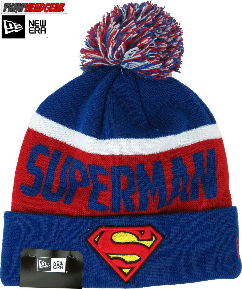 e605f8872e3 New Era Team Jake Superman Bobble Hat  NewEra  Beanie