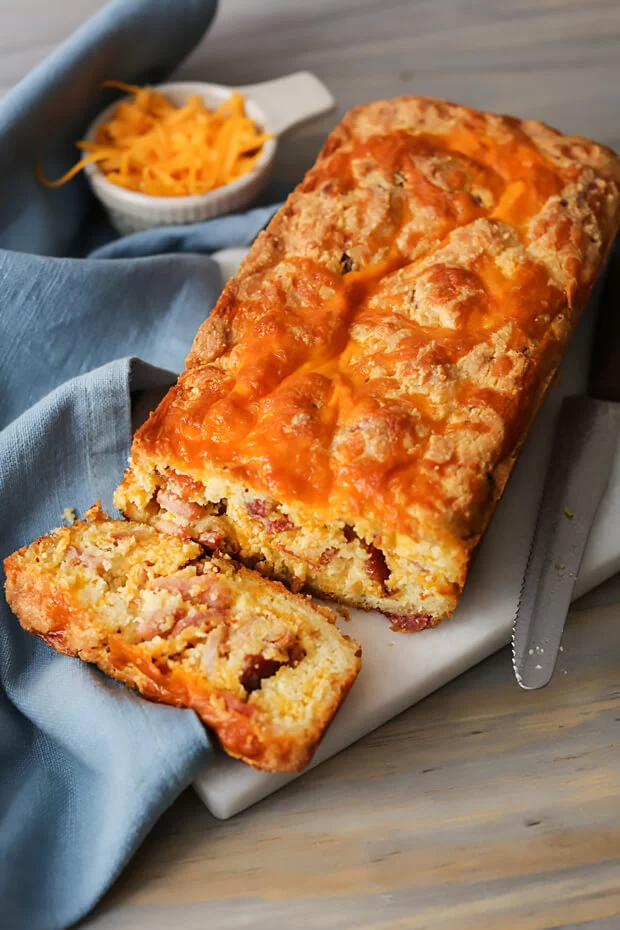 Keto Cheesy Bacon Bread