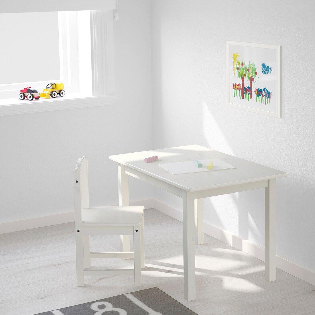 Sundvik Kindertisch Weiss Ikea Deutschland In 2020 Kindertisch Ikea Stuhle Fur Kinder