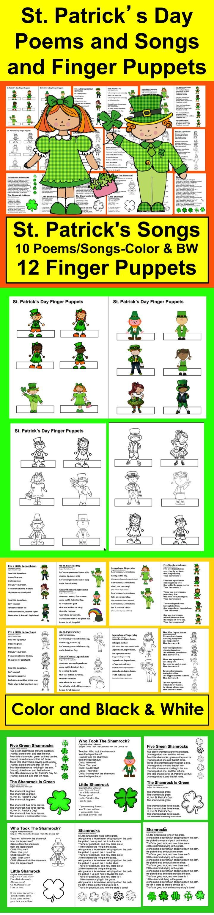 St. Patrick\'s Day Poems | Finger plays, Poem and Students