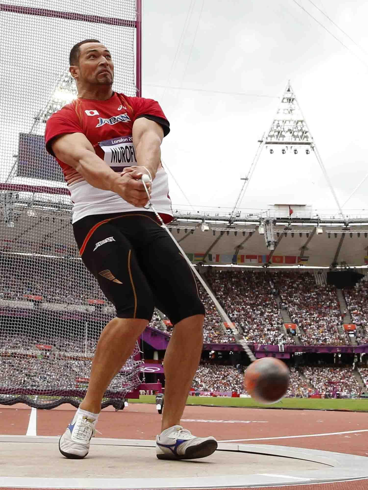 Hammer man: Japan's Koji Murofushi takes part in the ...