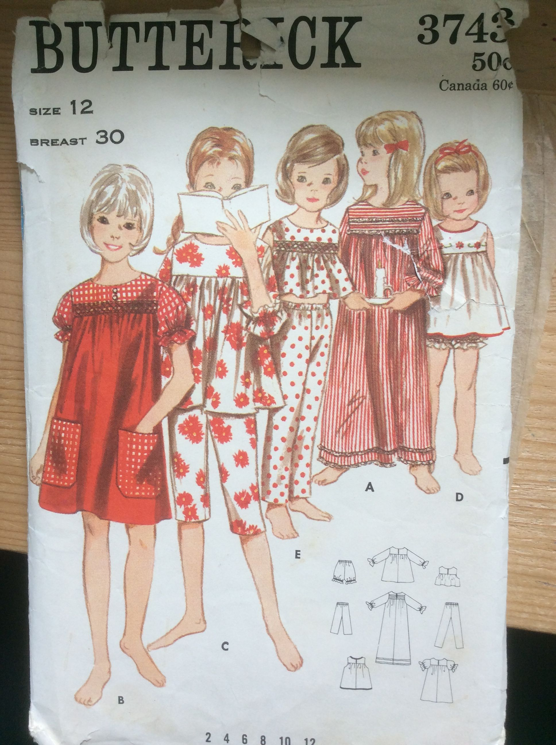 Vintage Butterick 3743 | Sewing | Pinterest