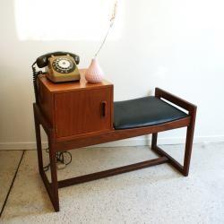 Meuble Telephone Annees 50 Mobilier Vintage Meuble Telephone