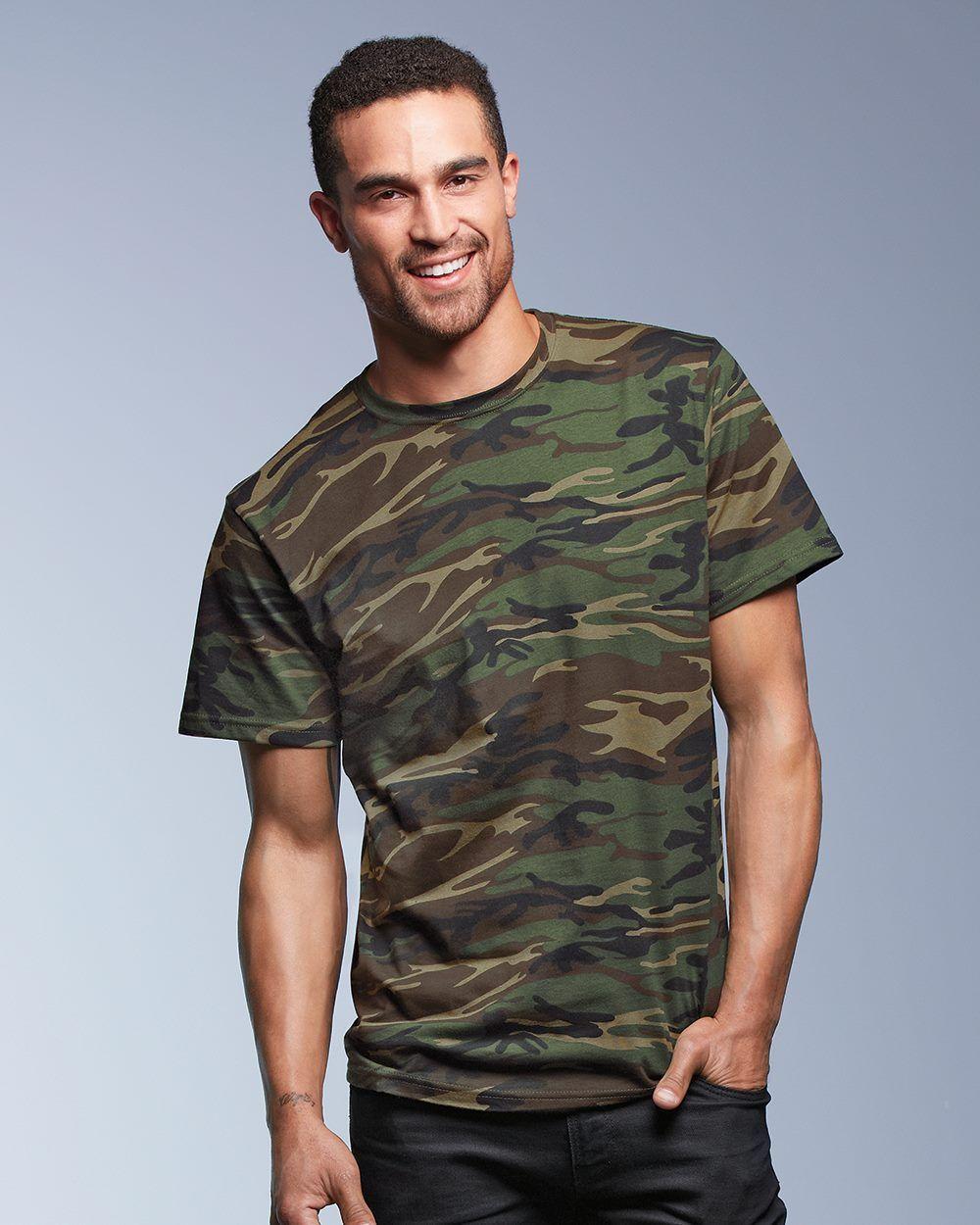8d94fe9d889704 Anvil 939 - Camouflage T-Shirt