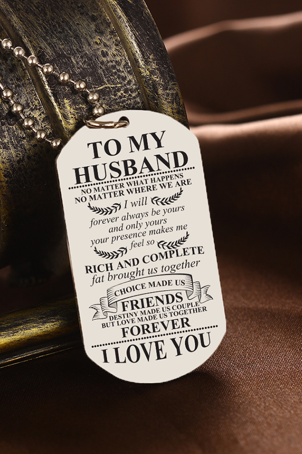 To My Husband Rich And Complete Dog Tag