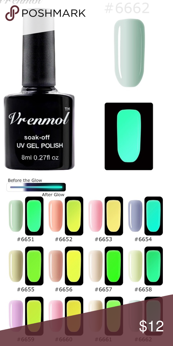 🆕Glow-In-The-Dark Gel Nail Polish Brand new never been used. Glows ...