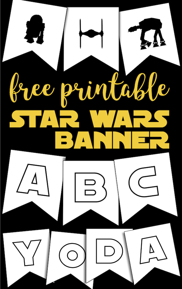 Star Wars Printables Free Star Wars Printable Banner Paper Trail Design Star Wars Printables Star Wars Baby Shower Star Wars Printables Free