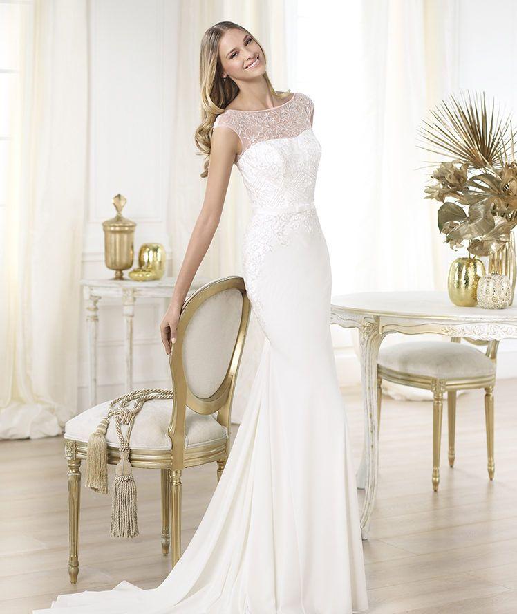 Pronovias presents the Lennie wedding dress. Fashion 2014. | Pronovias